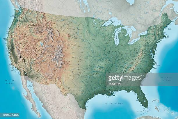 USA Topography Map