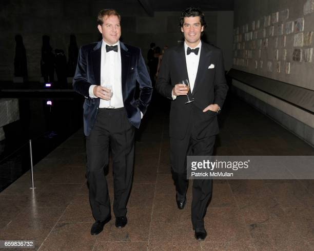 Topper Mortimer and Alejandro Santo Domingo attend Apollo Circle Benefit 2009 Sponsored by Carolina Herrera at The Metropolitan Museum of Art on...