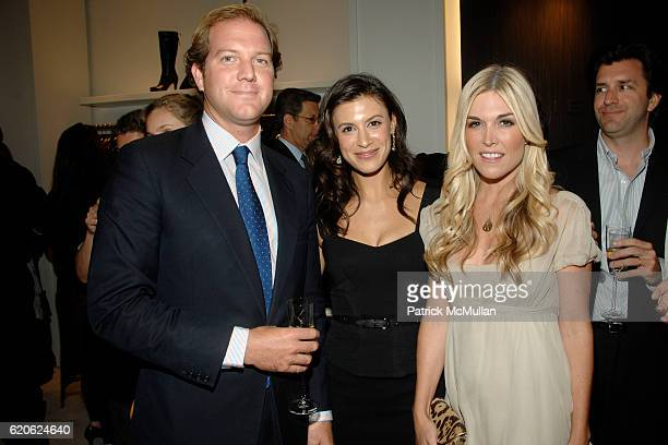 Topper Mortimer Tatiana Boncompagni and Tinsley Mortimer attend VOGUE and ELIE TAHARI host cocktails to celebrate TATIANA BONCOMPAGNI's new book...