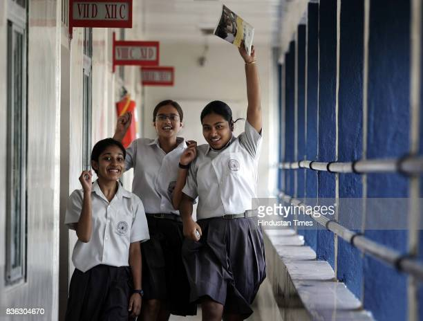 CBSE toppers to Astrid Dias Priya Andleigh and Sneha Choudhury at RN Podar School