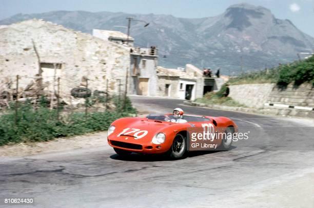 Toppetti driving a Ferrari Dino 196SP at Targa Florio