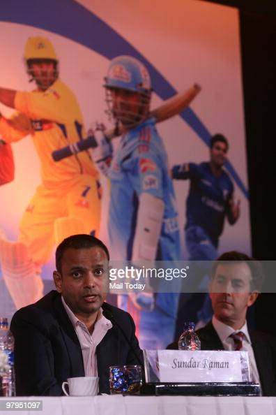 Topps CEO Ryan O'Hara along with Chief Operating Officer Indian Premier League Sundar Raman during the announcement of a partnership to launch a...