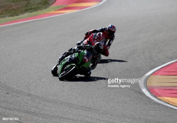 Toprak Razgatlioglu competes in Superstock 1000 Championship's 3th Leg at the Aragon track in Alcaniz Spain on April 2 2017