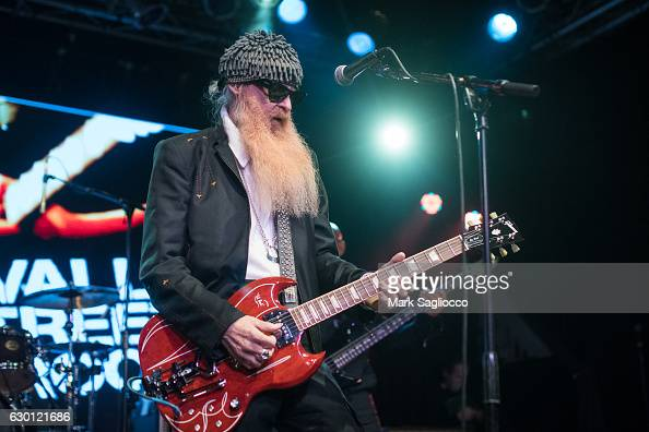 Top's Guitarist Billy Gibbons performs in concert at the 2016 Wall Street Rocks For Our Heroes at the Highline Ballroom on December 16 2016 in New...