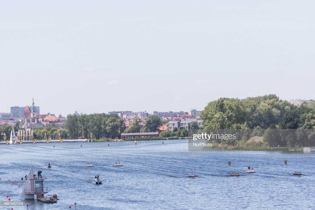 Tor wioslarski Malta during the final day of the 2017 World Rowing World Cup in Poznan, Poland, on 18 June 2017.
