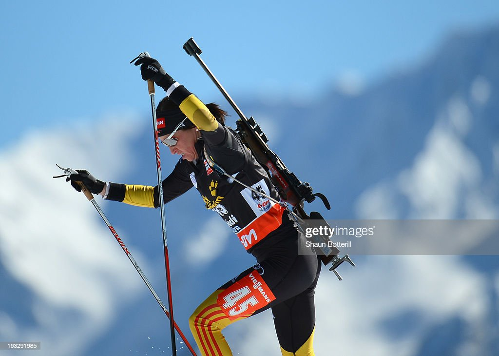 Tora Berger of Germany competes in the Women's 15km Individual Event during the E. ON IBU Biathlon World Cup at the 'Laura' Biathlon & Ski Complex on March 7, 2013 in Sochi, Russia.