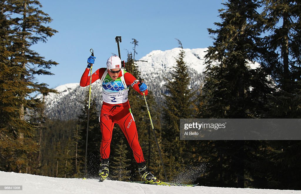 <a gi-track='captionPersonalityLinkClicked' href=/galleries/search?phrase=Tora+Berger&family=editorial&specificpeople=812729 ng-click='$event.stopPropagation()'>Tora Berger</a> of Norway competes during the Biathlon Women's 15 km individual on day 7 of the 2010 Vancouver Winter Olympics at Whistler Olympic Park Biathlon Stadium on February 18, 2010 in Whistler, Canada.