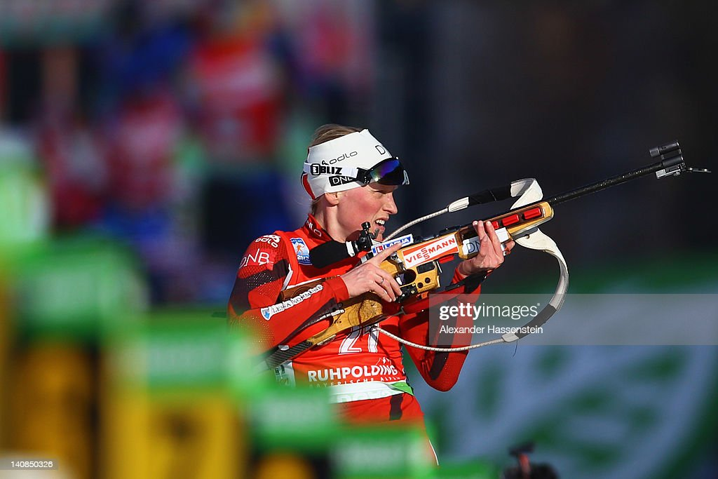 <a gi-track='captionPersonalityLinkClicked' href=/galleries/search?phrase=Tora+Berger&family=editorial&specificpeople=812729 ng-click='$event.stopPropagation()'>Tora Berger</a> of Norway competes in the Women's 15km Individual during the IBU Biathlon World Championships at Chiemgau Arena on March 7, 2012 in Ruhpolding, Germany.