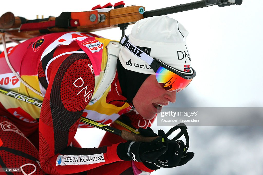 Tora Berger of Norway competes in the women's 7,5km sprint event during the IBU Biathlon World Cup on December 7, 2012 in Hochfilzen, Austria.