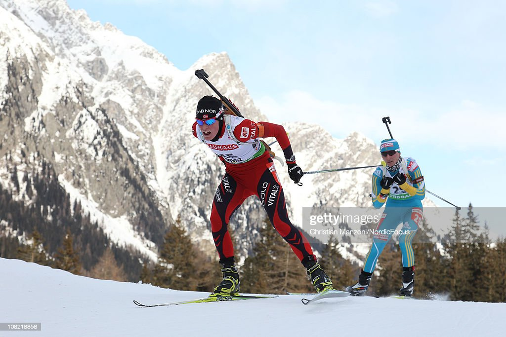 <a gi-track='captionPersonalityLinkClicked' href=/galleries/search?phrase=Tora+Berger&family=editorial&specificpeople=812729 ng-click='$event.stopPropagation()'>Tora Berger</a> of Norway competes in the women's sprint during the E.ON IBU Biathlon World Cup on January 21, 2011 in Antholz-Anterselva, Italy.