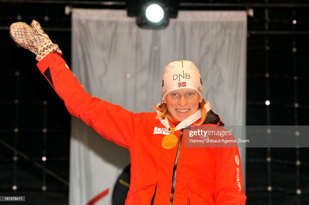 <a gi-track='captionPersonalityLinkClicked' href=/galleries/search?phrase=Tora+Berger&family=editorial&specificpeople=812729 ng-click='$event.stopPropagation()'>Tora Berger</a> of Norway takes 1st place during the IBU Biathlon World Championship Women's 10km Pursuit on February 10, 2013 in Nove Mesto, Czech Republic.