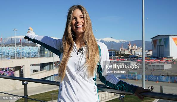 Torah Bright of the Australian Snowboard team poses in the Olympic Park during the Sochi 2014 Winter Olympics on February 13 2014 in Sochi Russia