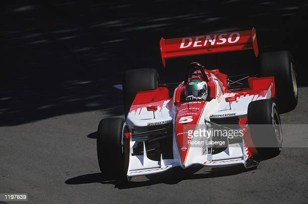 Toranosuke Takagi or Tora Takagi of Japan drives his Walker Racing Toyota Reynard during the Molson Indy Vancouver round 10 of the CART FedEx...