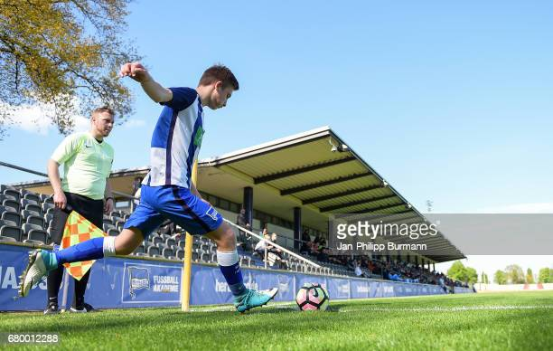 Torben Rhein of Hertha BSC U14 during the game of the 3rd place during the Nike Premier Cup 2017 on may 7 2017 in Berlin Germany