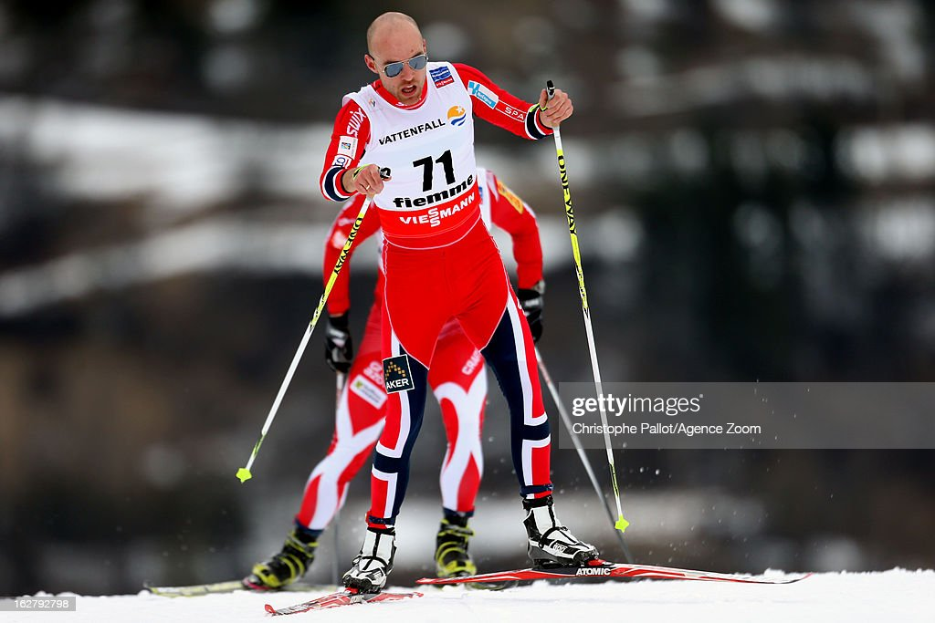 Tord Aslme Gjerdalen of Norway takes the bronze medal competes during the FIS Nordic World Ski Championships Cross Country Men's Distance on February 27, 2013 in Val di Fiemme, Italy.