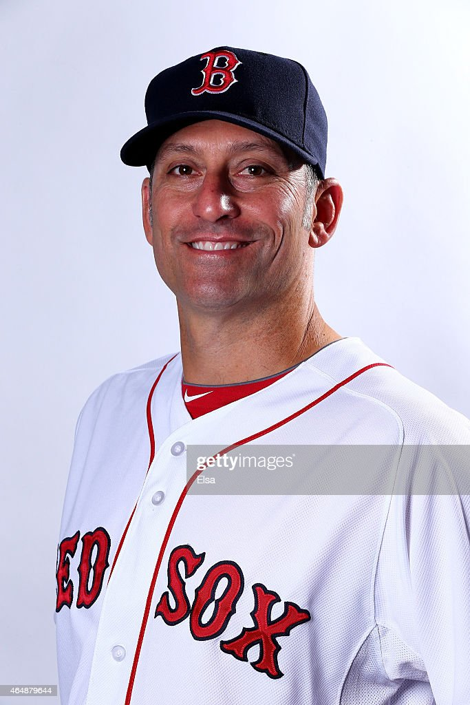 Torey Lovullo #17 of the Boston Red Sox poses for a portrait on March 1, 2015 at JetBlue Park in Fort Myers, Florida.