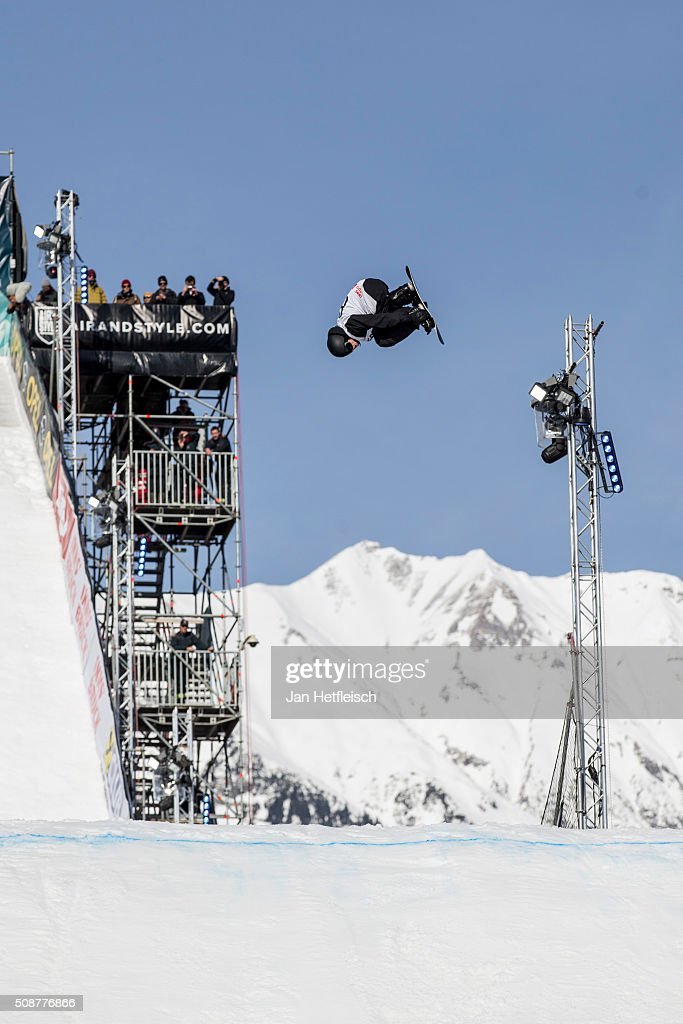 Torgeir Bergrem from Norway jumps during Air and Style Festival February 6, 2016 in Innsbruck, Austria.