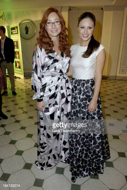 Tori Amos and Nazan Eckes attend the Echo Klassik 2012 award ceremony at Konzerthaus on October 14 2012 in Berlin Germany