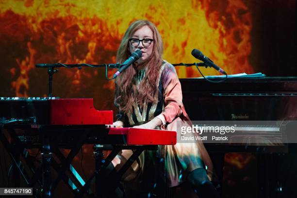 Tori Amos performs at Le Grand Rex on September 11 2017 in Paris France