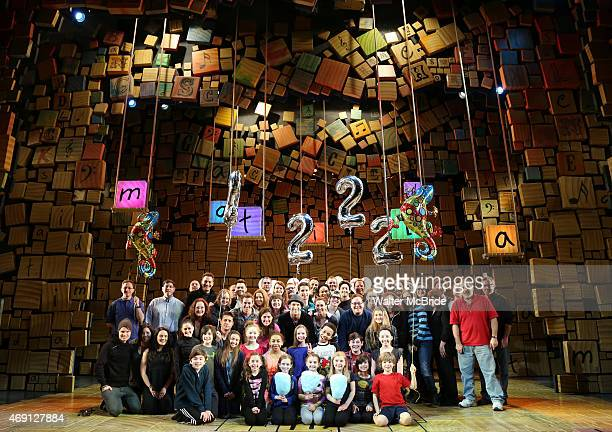 Tori Feinstein Eliza Holland Madore and Brooklyn Schuck with Christopher Sieber Matt Harrington Lesli Magherita and the cast from 'Matilda The...