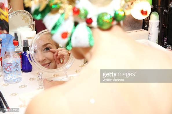 Tori Gregson from the Radio City Rockettes backstage in her dressing room before starring in 'The Christmas Spectacular' at Radio City Music Hall on...