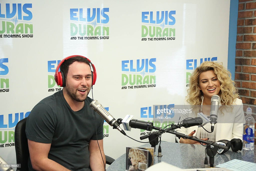 Tori Kelly and Scott Samuel 'Scooter' Braun visit 'The Elvis Duran Z100 Morning Show' at Z100 Studio on June 23 2015 in New York City