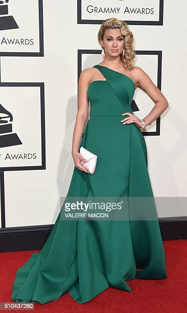 Tori Kelly arrives on the red carpet during the 58th Annual Grammy Music Awards in Los Angeles February 15 2016 AFP PHOTO/ Valerie MACON / AFP /...