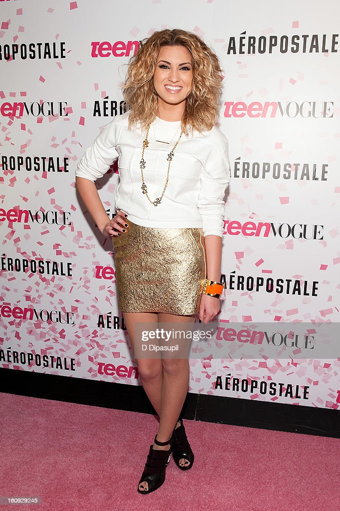 <a gi-track='captionPersonalityLinkClicked' href=/galleries/search?phrase=Tori+Kelly&family=editorial&specificpeople=7495626 ng-click='$event.stopPropagation()'>Tori Kelly</a> attends the Teen Vogue 10th Anniversary and Chloe Grace Moretz Sweet 16 Celebration at Aeropostale Times Square on February 7, 2013 in New York City.