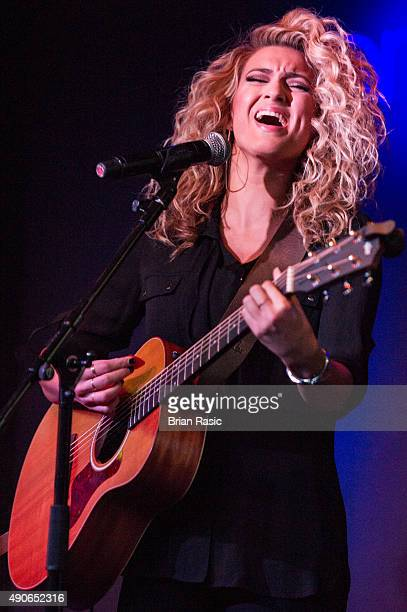 Tori Kelly performs at the press launch for the 2015 MOBO Nominations at Ronnie Scott's Jazz Club on September 30 2015 in London England