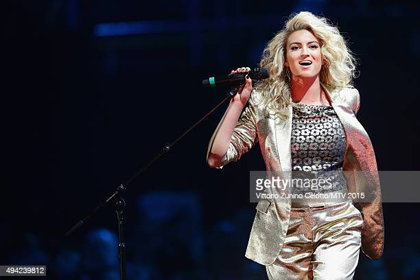 Tori Kelly performs on stage during the MTV EMA's 2015 at the Mediolanum Forum on October 25 2015 in Milan Italy