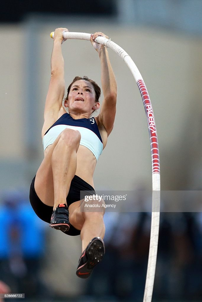 Tori Pena of the Ireland competes during the Pole Vault at the Diamond League athletics competition at the Qatar Sports Club Stadium in Doha, Qatar on May 6, 2016.