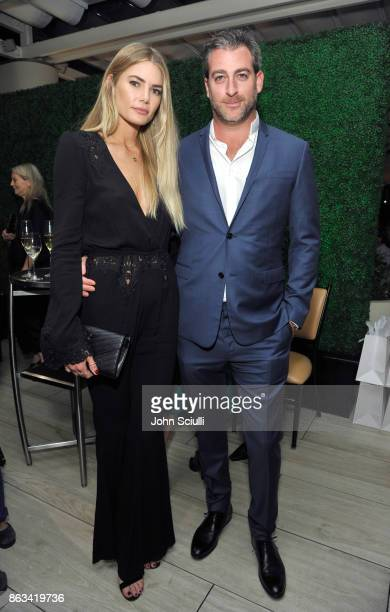 Tori Praver and Mark Birnbaum attend THE OUTNET x Amber Valletta at Waldorf Astoria Beverly Hills on October 19 2017 in Beverly Hills California