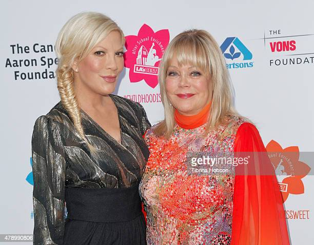 Tori Spelling and Candy Spelling attend LA's Best annual family dinner 2015 at Skirball Cultural Center on June 27 2015 in Los Angeles California