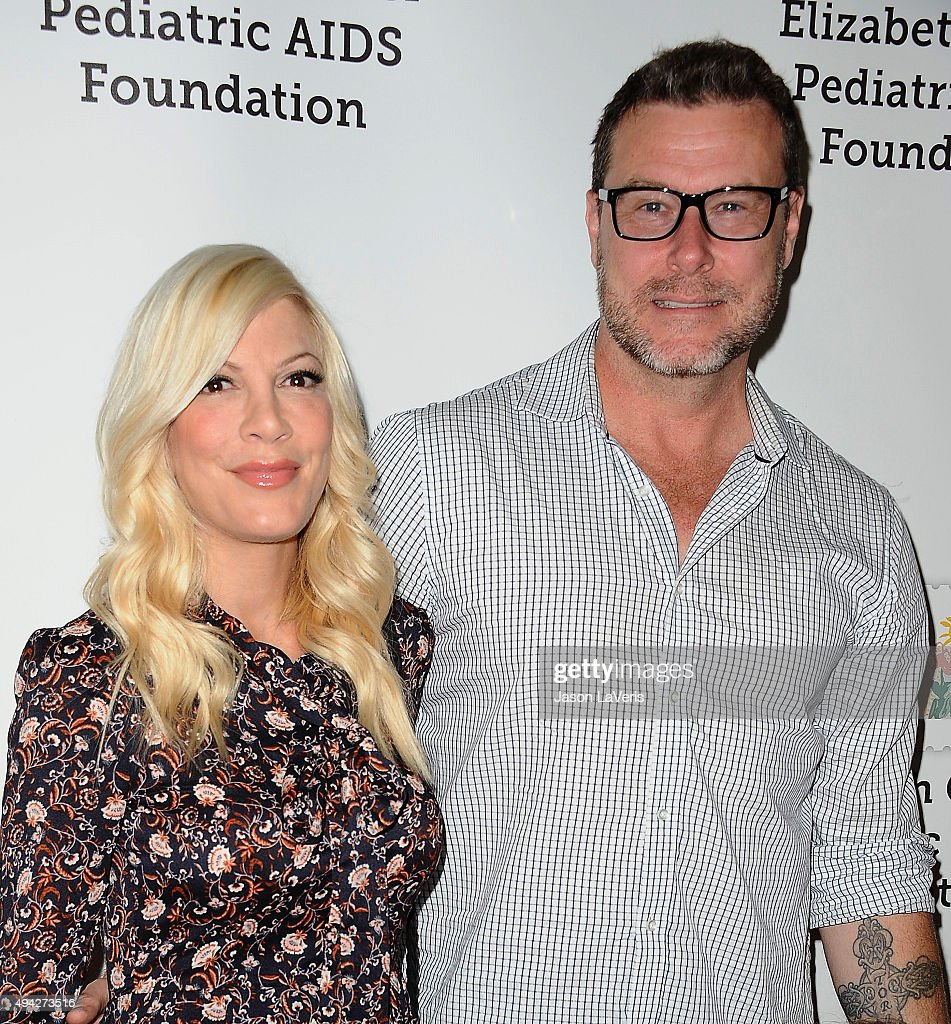Tori Spelling and Dean McDermott attend the Elizabeth Glaser Pediatric AIDS Foundation's 26th A Time For Heroes family festival at Smashbox Studios...