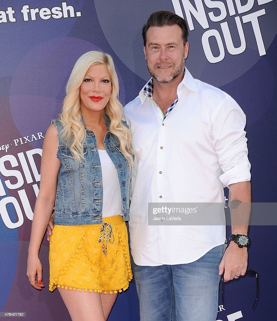 Tori Spelling and Dean McDermott attend the premiere of 'Inside Out' at the El Capitan Theatre on June 8, 2015 in Hollywood, California.