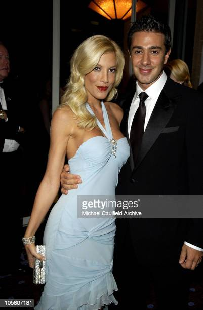 Tori Spelling and husband Charles Shanian during Mercedes Benz Presents the 16th Annual Carousel Of Hope Gala VIP Reception at Beverly Hilton Hotel...