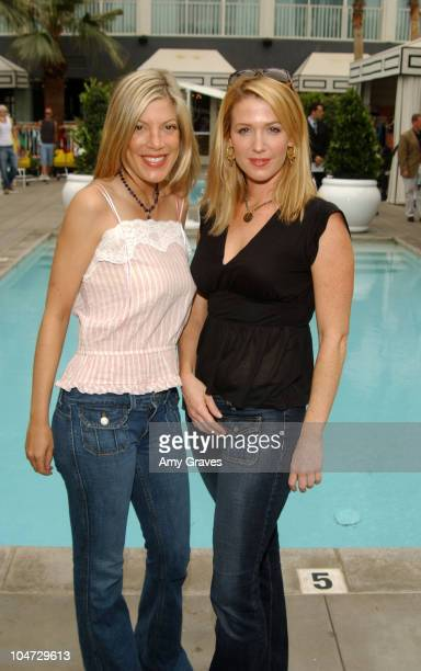 Tori Spelling and Poppy Montgomery wearing Energymuse jewelry