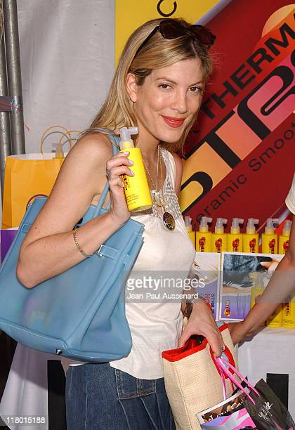 Tori Spelling at Rusk during Silver Spoon Hollywood Buffet Day One at Private Estate in Hollywood California United States Photo by JeanPaul...