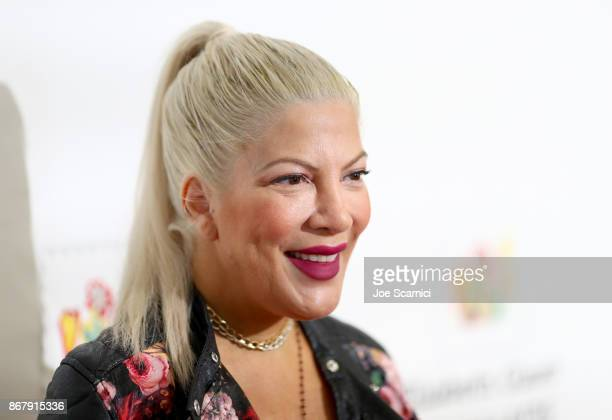 Tori Spelling at The Elizabeth Glaser Pediatric AIDS Foundation's 28th annual 'A Time For Heroes' family festival at Smashbox Studios on October 29...