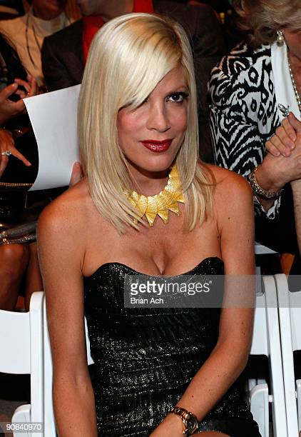 Tori Spelling attends MercedesBenz Fashion Week at Bryant Park on September 12 2009 in New York New York