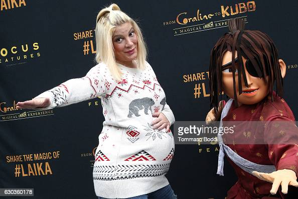 Tori Spelling attends the Grand ReOpening Event For 'From Coraline To Kubo A Magical LAIKA Experience' at The Globe Theatre on December 21 2016 in...