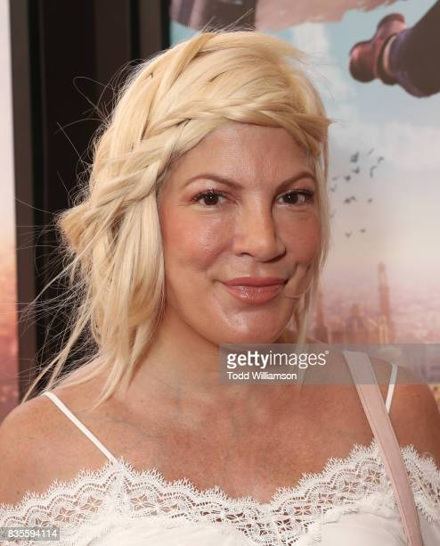 Tori Spelling attends the premiere Of The Weinstein Company's 'Leap' at Pacific Theatres at The Grove on August 19 2017 in Los Angeles California