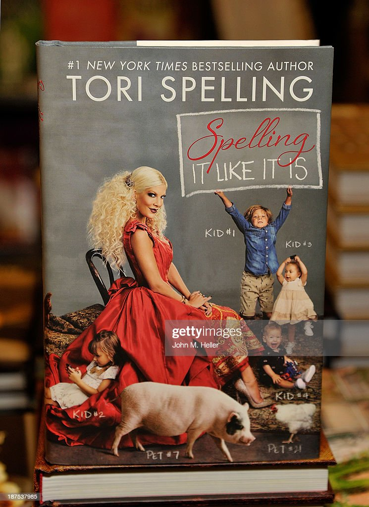 Tori Spelling book signing for her new book 'Spelling It Like It Is' at Barnes & Noble bookstore at The Grove on November 9, 2013 in Los Angeles, California.