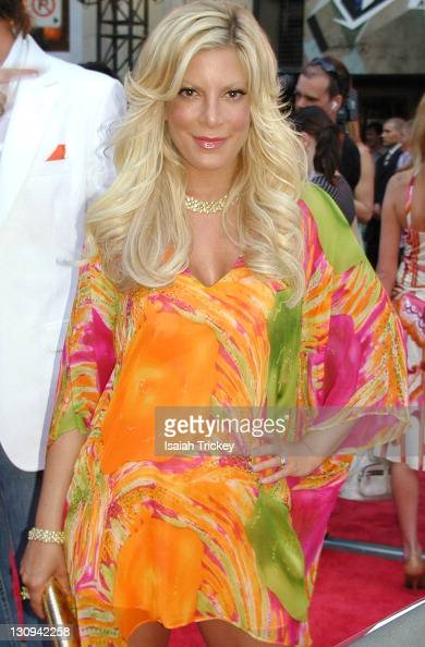 Tori Spelling during 17th Annual MuchMusic Video Awards Red Carpet at Chum City Building in Toronto Ontario Canada