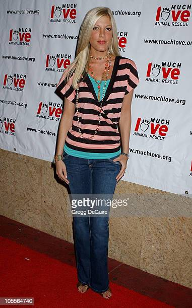 Tori Spelling during 3rd Annual Celebrity Comedy Benefit Helping Much Love Animal Rescue at Laugh Factory in Hollywood California United States