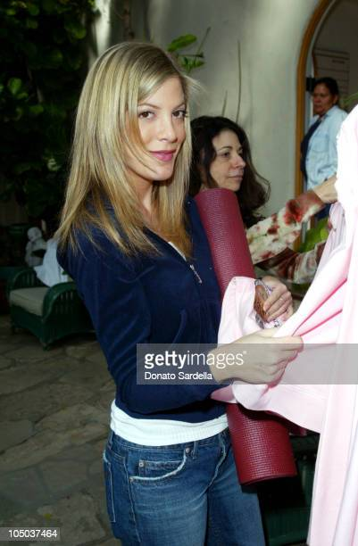 Tori Spelling during Lucky Magazine Hosts the Launch of Down Dog Couture by Juicy at Private Home in Los Angeles CA United States