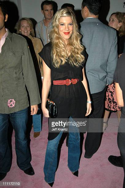 Tori Spelling during Motorola Hosts 5th Anniversary Party Benefiting Toys for Tots Inside at 3526 Hayden in Culver City California United States