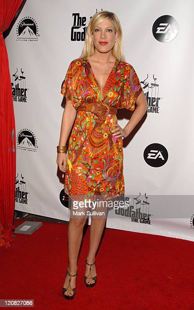 Tori Spelling during 'The Godfather The Game' Launch Party Arrivals at Privilege in Los Angeles California United States