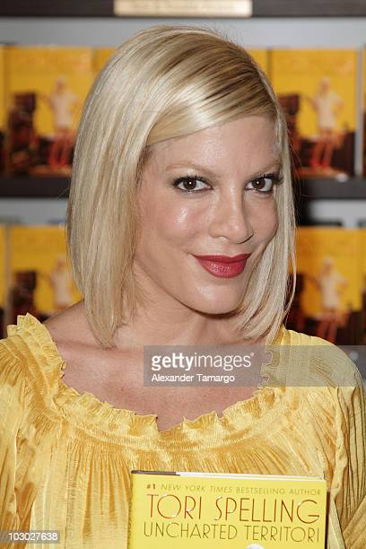 Tori Spelling makes an appearance to sign copies of her book 'Uncharted TerriTORI' at Books and Books on July 21 2010 in Miami Beach Florida