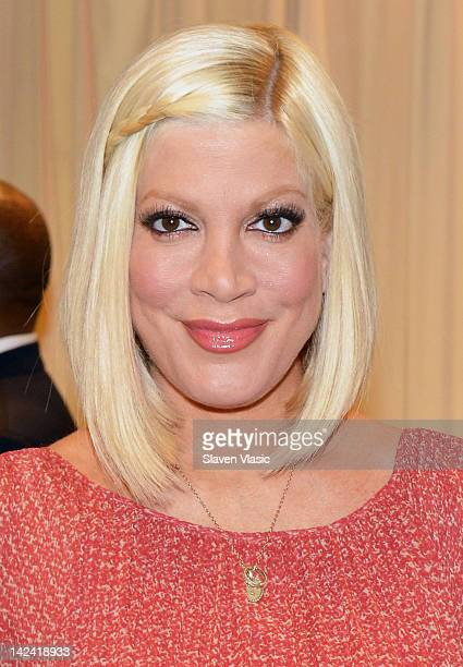 Tori Spelling promotes 'CelebraTORI Unleashing Your Inner Party Planner to Entertain Friends and Family' at Barnes Noble 5th Avenue on April 4 2012...